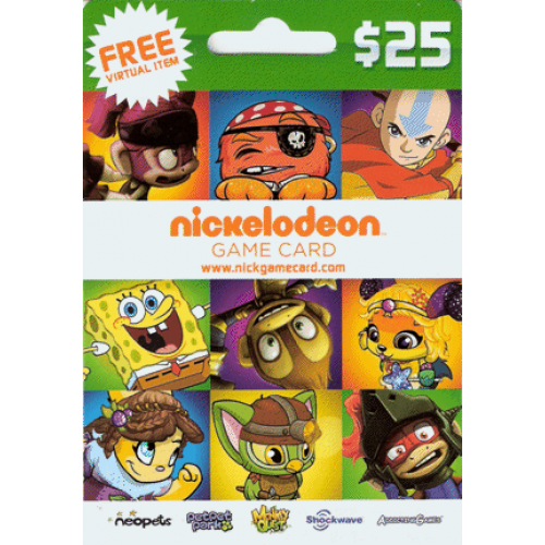 $25 Neopets Nickelodeon Game Card (Email Delivery)