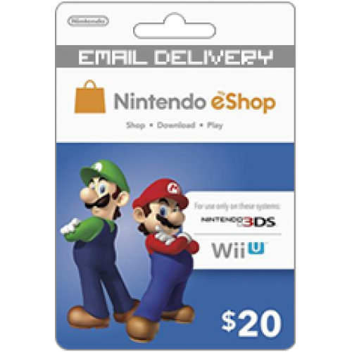 $20 Nintendo Eshop for Wii U and 3DS Does not work in Canada (Email Delivery)