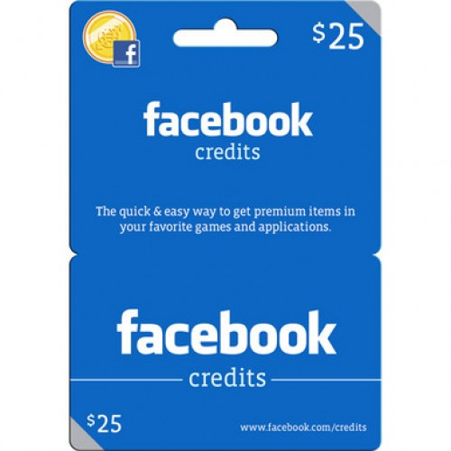$25 Facebook Gift Card For Games And Apps (Email Delivery)