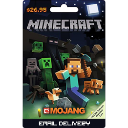 $26.95 Minecraft PC and Mac Software Card (Email Delivery)