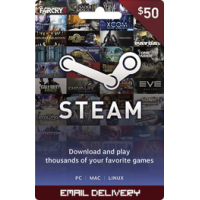 $50 Steam Gift Card (Email Delivery)