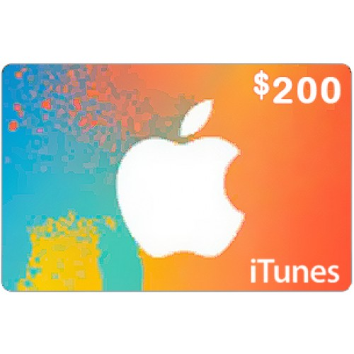 $200 iTunes Card for US store