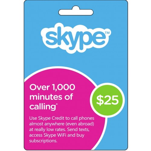$25 Skype Gift Card (Email Delivery)